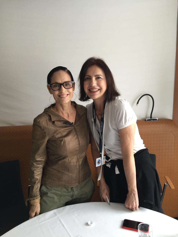 2016-05 Sonia Braga com Serena Ucelli