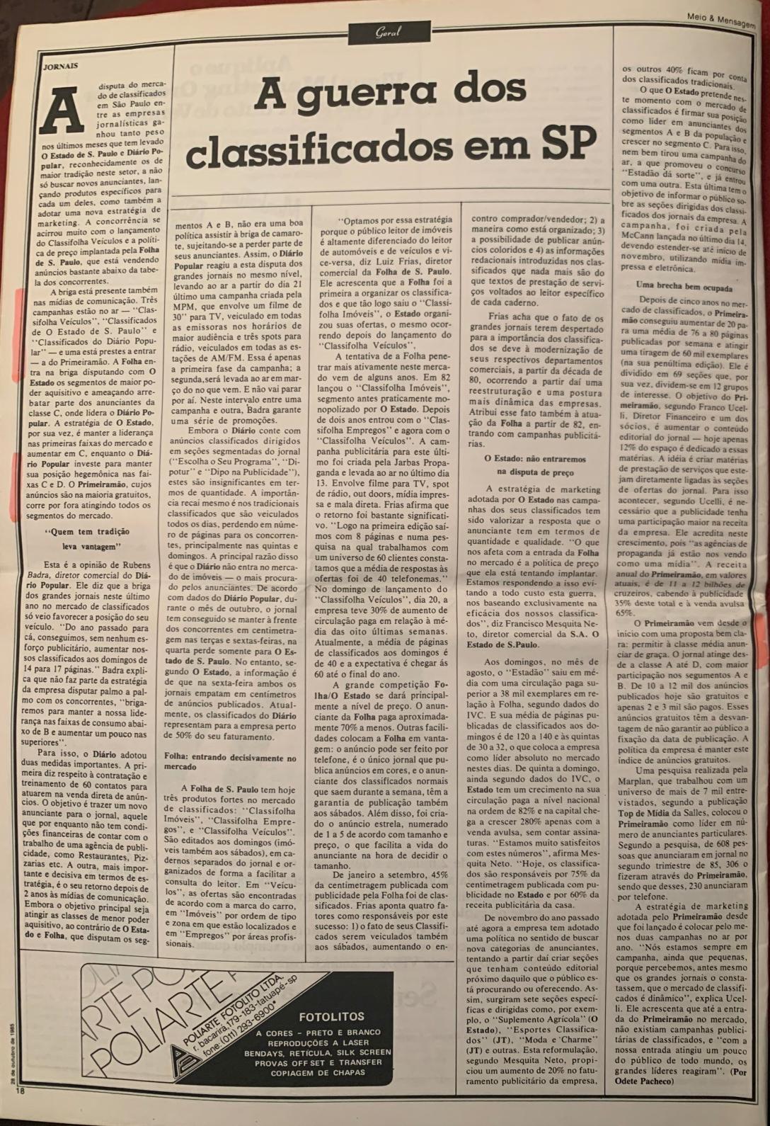 1985-28-10 materia jornal Meio e Mensagem