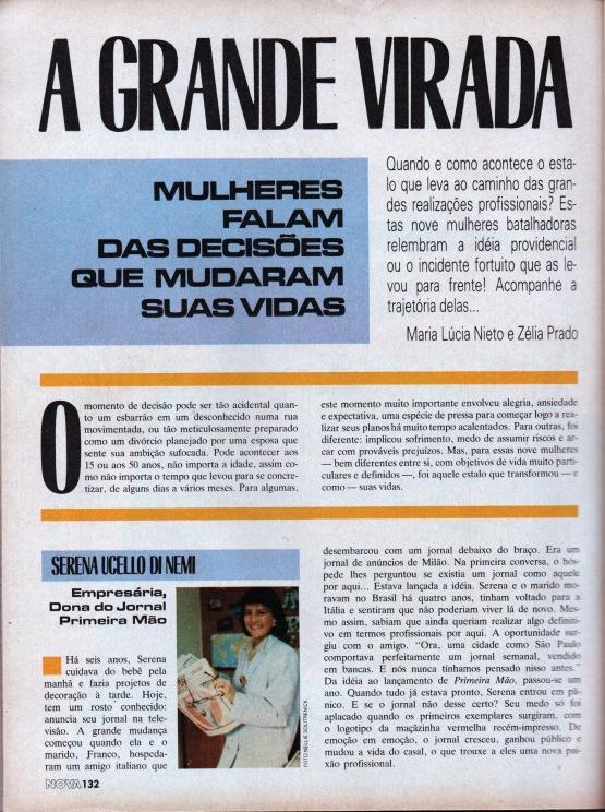 1985 Materia Revista Nova