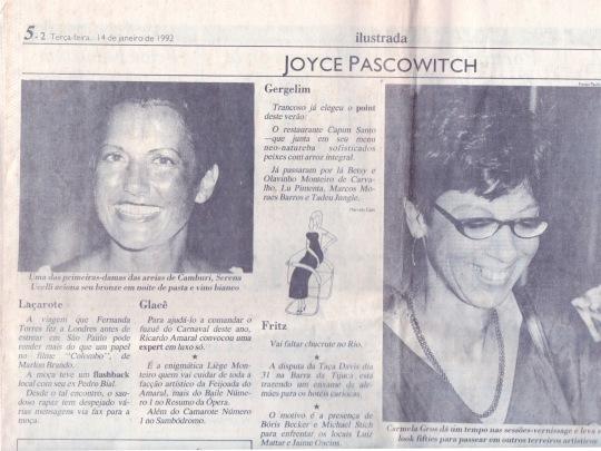 1992-14-01 Folha de SP Joyce Pascowich