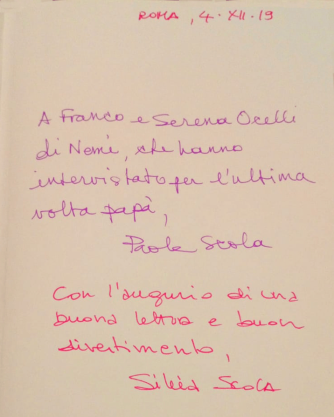 Dedicatoria_Livro Ettore Scola_Serena Ucelli